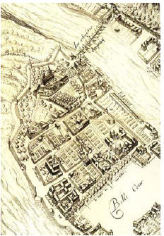Fig. 14. Les remparts d'Ainay en 1659
