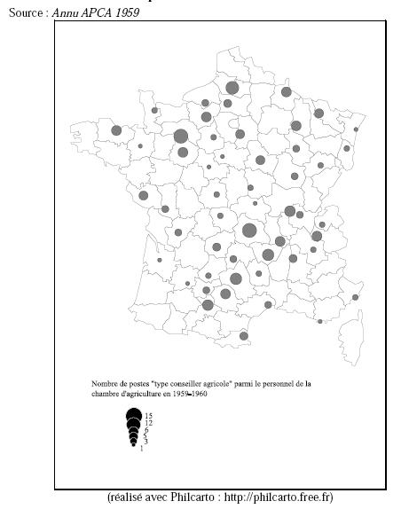 Carte 1 nombre de postes type conseiller agricole for Chambre departementale