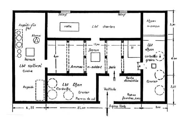 Fig 14 maison dans une ferme isol e du moyen atlas for Pieces d une maison