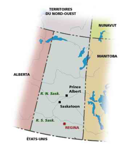 Province de la Saskatchewan, Canada. Source : site officiel du gouvernement canadien.