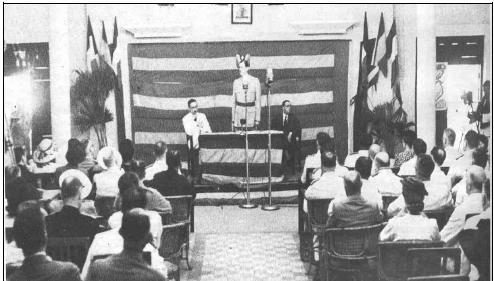 Le Général de Gaulle à la Conférence de Brazzaville en 1944